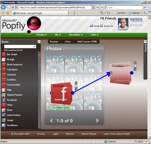 MS Popfly screenshot